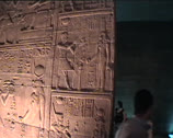 Stock Video Footage of Hieroglyphics inside Temple at Philae in Egypt