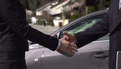 SLOW MOTION: Business handshake Stock Footage