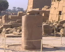 Ruins at Edfu zoom out Stock Footage