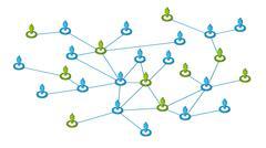 Sosiaalinen verkkoyhteydet Piirros