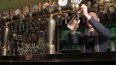 Barman at the bar Stock Footage
