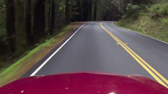 Driving California redwood passing rv and cars pov HD 023 Stock Footage