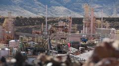 The Mountain Pass rare earth mine Stock Footage