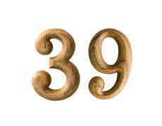 Stock Illustration of wooden numeric 39