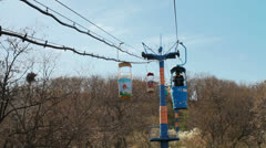 Cable car ride in Odessa. Ukaraina Stock Footage