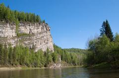 Cliffs on the shore Stock Photos