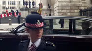 Stock Video Footage of The Queen Arriving At St.Pauls Cathedral.
