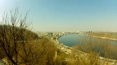 Dnipro river in Kyiv Stock Footage