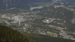 Canada, Banff, Overview of Town MS Stock Footage