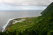 Stock Photo of farm on the azores coast, sao jorge