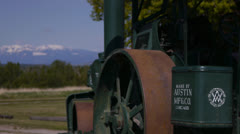Canada, Fort Steele, Antique Tractor Detail Stock Footage