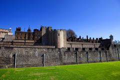 Tower of London, keskiaikainen linna ja vankila Kuvituskuvat