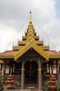 Temple in Thailand Burmese style scale. Stock Photos