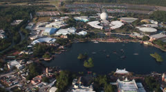 Aerial News Footage of the Walt Disney World Resort in Orlando Florida Stock Footage