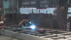 Gas Welding Stock Footage
