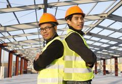 construction engineers - stock photo