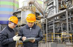 engineer oil refinery - stock photo