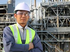 Stock Photo of engineer oil refinery