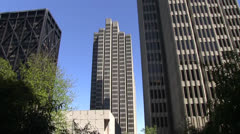 San Francisco, lunch area Stock Footage