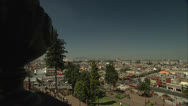 Mexico City's Plaza del Maguey and Cityscape Pan and Zoom In HD Video Stock Footage