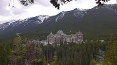 Canada, Banff, Banff Springs Hotel LS XLS Stock Footage