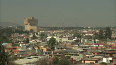 Rooftops of Smoggy Mexico City Skyline HD Video Stock Footage