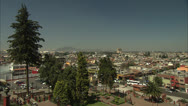 Panoramic of Mexico Capital Cityscape Pan over Plaza del Maguey HD Video Stock Footage