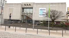 Kunstverein Kunsthalle for Rhineland and Westphalia Dusseldorf Germany Stock Footage