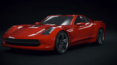 Chevy stingray 2013 redesign Stock Footage