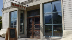Canada, Fort Steele, Local Bakery, Panning Stock Footage