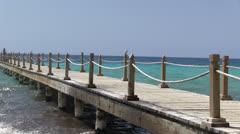 Pier - sea- holiday Stock Footage