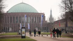Tonhalle or Concert Hall in Dusseldorf Germany Stock Footage