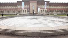 Art Museum in Dusseldorf Germany Stock Footage