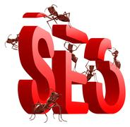ant at work busy doing the job occupied search engine optimazation seo - stock illustration