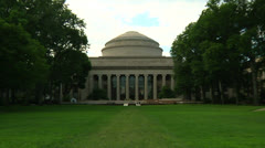 Zoom in to the Dome at MIT. Stock Footage