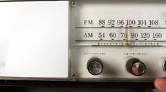 Vintage radio dial frequency Stock Footage