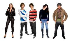 people in studio, individual images available at higher resolution - stock photo