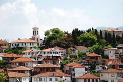 The old part of town  Ohrid, Ohrid Lake, Macedonia Stock Photos