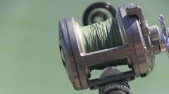 San Francisco Bay, fishing pole Stock Footage