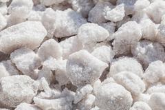 crystals of sea salt - stock photo