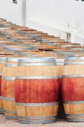 barrel of wine, stellenbosch, western cape, south africa. - stock photo