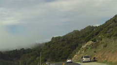 California coastal highway 1 curves and forest POV HD 024 Stock Footage