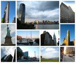 New york city collage Stock Illustration