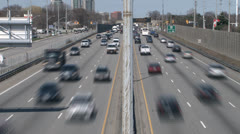Time Lapse Video of Busy Highway - stock footage