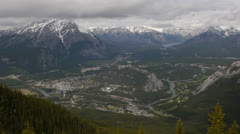 Canada, Banff, Overview of Town Wide Stock Footage