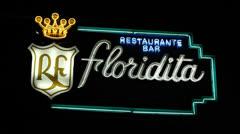Floridita Bar Sign At Night Havana Cuba Stock Footage