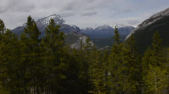 Canada, Banff, View From Banff Gondola 1 Stock Footage