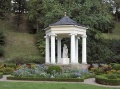 Pavillon at schloss belvedere Stock Photos