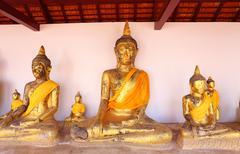 Sacred buddha images in surat thani, thailand Stock Photos