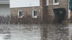 Walking through flooding area 2 Stock Footage
